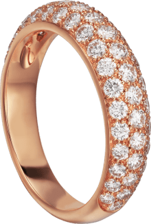 Étincelle de Cartier ring, small model Pink gold, diamonds