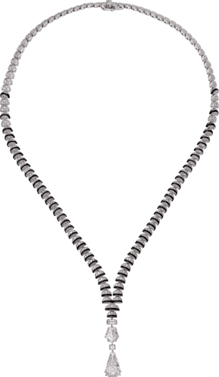 High Jewelry necklace White gold, black lacquer, diamonds