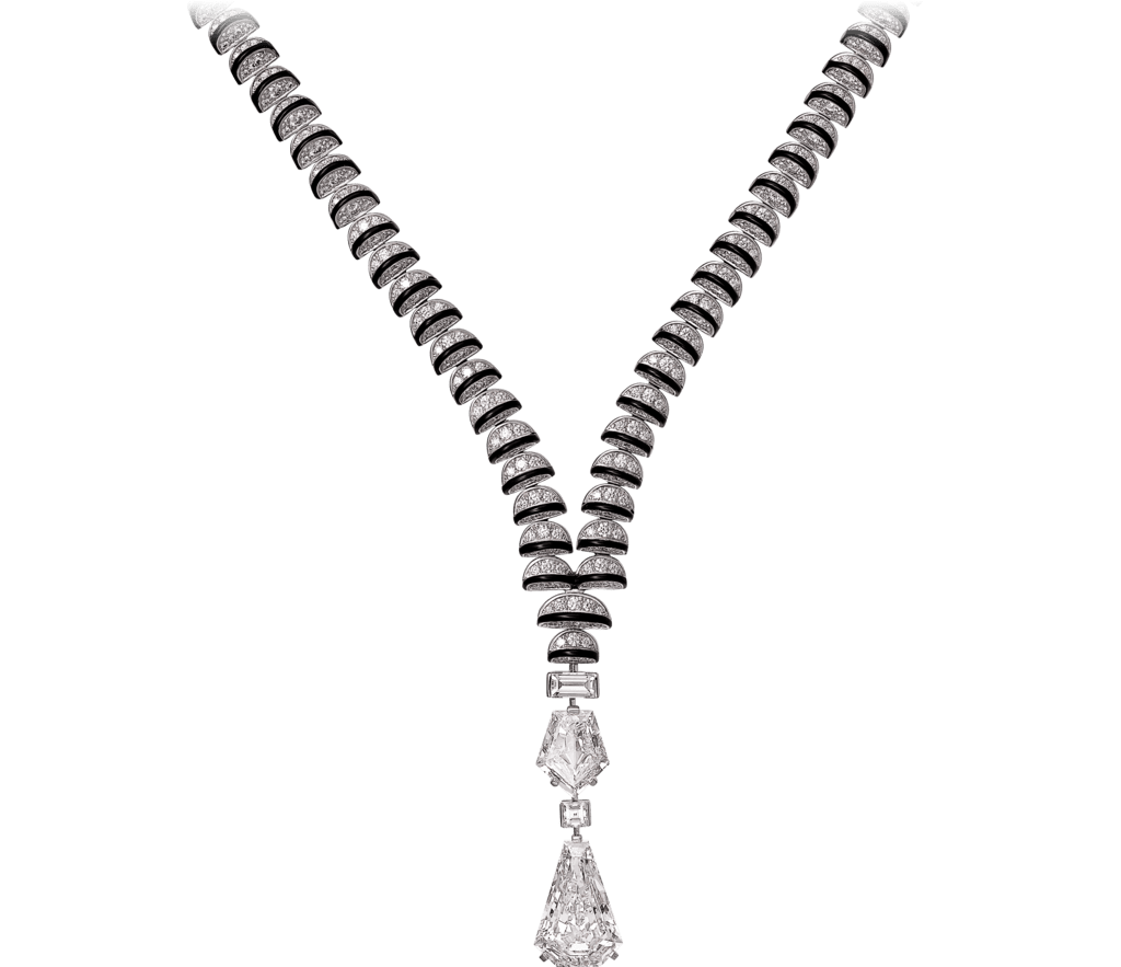 High Jewelry necklaceWhite gold, black lacquer, diamonds