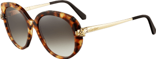 Panthère de Cartier sunglasses Combined tortoiseshell, smooth champagne golden-finish motif