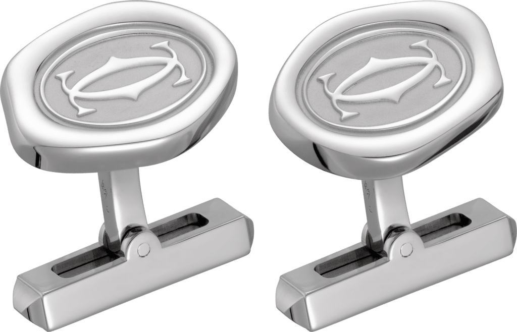 Wax seal motif cufflinksSterling silver, palladium finish
