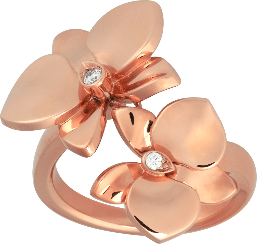 Caresse d'Orchidées par Cartier ringPink gold, diamonds