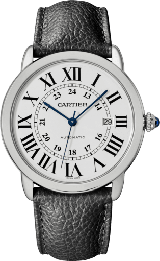 Ronde Solo de Cartier watch 42mm, steel, leather