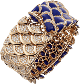High Jewelry bracelet Pink gold, lapis lazuli, diamonds.
