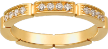Maillon Panthère wedding band Yellow gold, diamonds