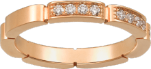 Maillon Panthère wedding band Pink gold, diamonds