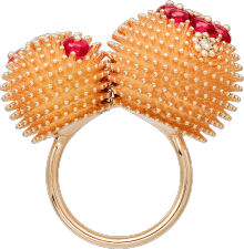 Cactus de Cartier ring Pink gold, spinels, diamonds
