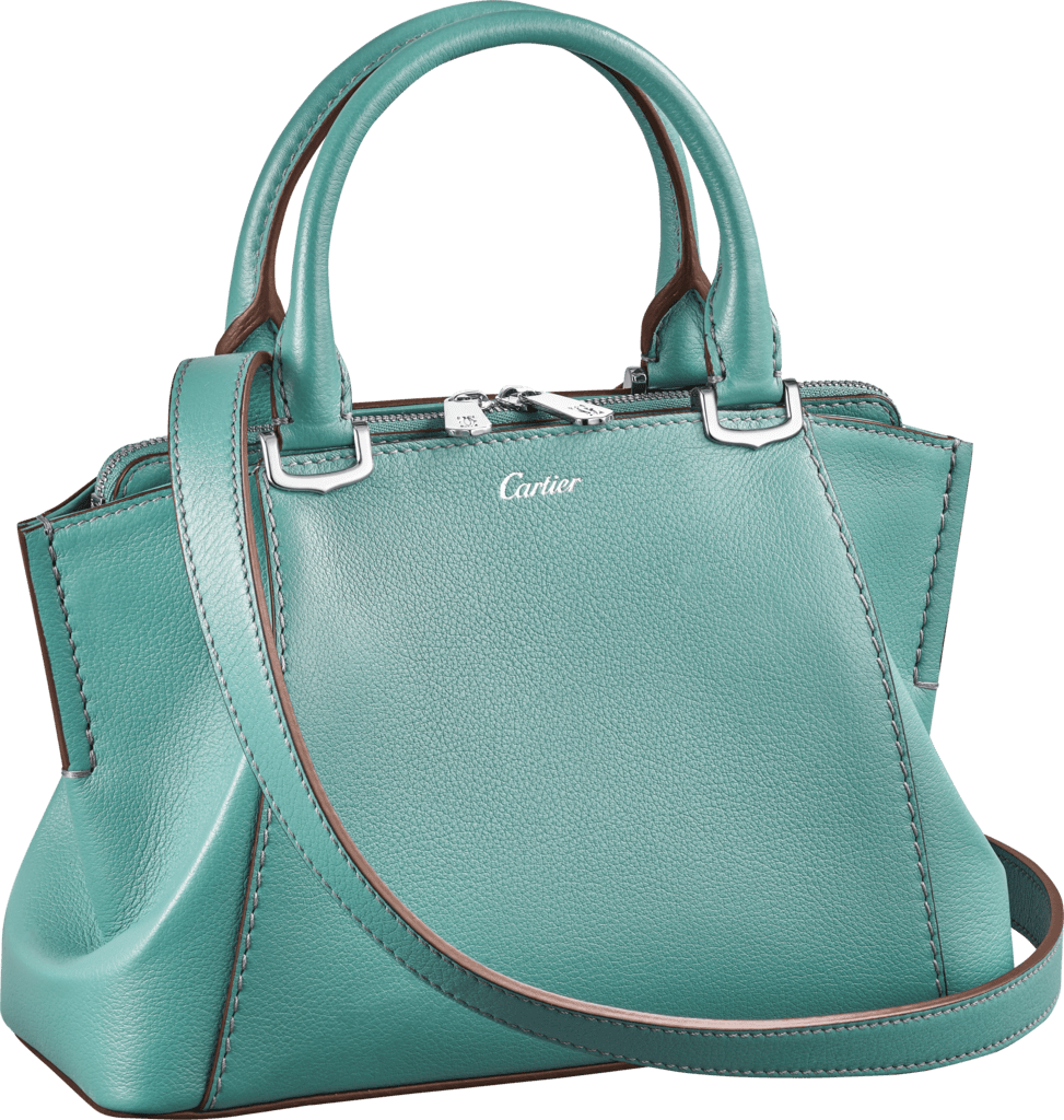 C de Cartier bag, mini modelGreen beryl taurillon leather, palladium finish