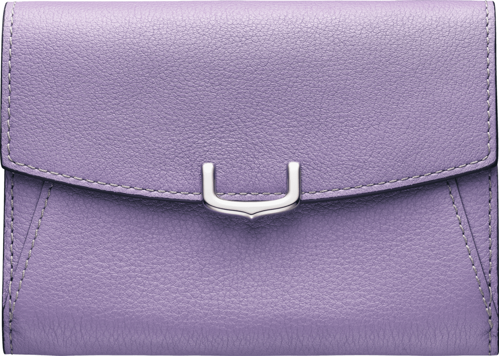 C de Cartier Small Leather Goods, compact walletPurple sapphire color taurillon leather, palladium finish