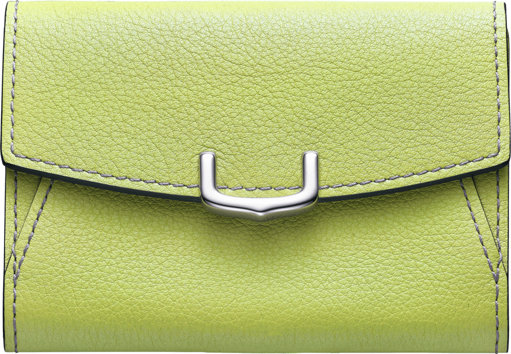 C de Cartier Small Leather Goods, business card holderCitron magnesite color taurillon leather, palladium finish