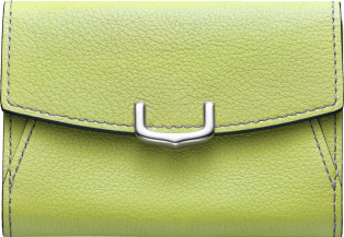 C de Cartier Small Leather Goods, business card holder Citron magnesite color taurillon leather, palladium finish