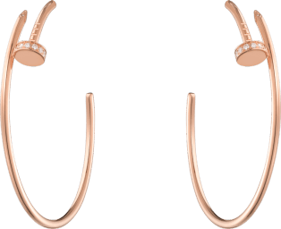 Juste un Clou earrings Pink gold, diamonds