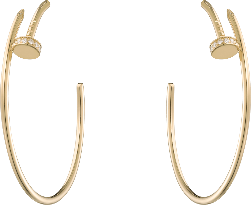 Juste un Clou earringsYellow gold, diamonds