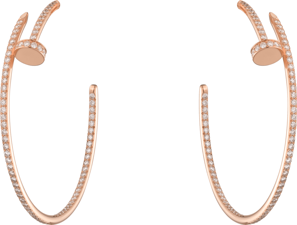 Juste un Clou earringsPink gold, diamonds