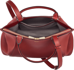 C de Cartier bag, small model Red spinel taurillon leather, golden finish