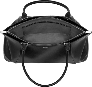 C de Cartier bag, medium model Onyx taurillon leather, palladium finish