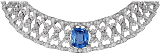 High Jewelry necklace White gold, sapphire, diamonds