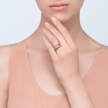 Trinity ring, LM White gold, yellow gold, pink gold