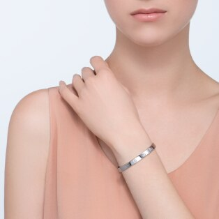 Love bracelet, 1 diamond White gold, diamond