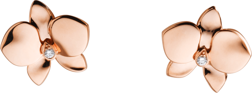 Caresse d'Orchidées par Cartier earringsPink gold, diamonds