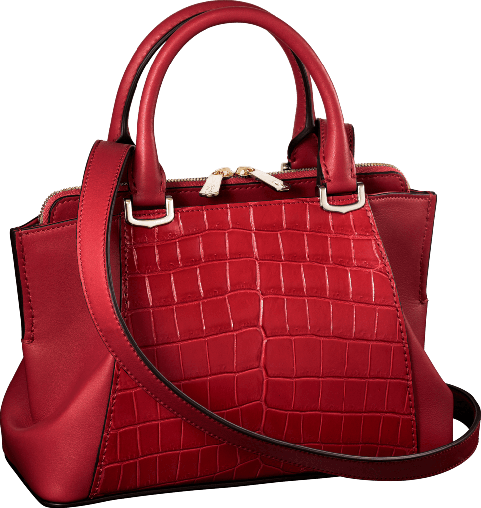 C de Cartier bag, mini modelRuby niloticus crocodile skin and calfskin, gold finish