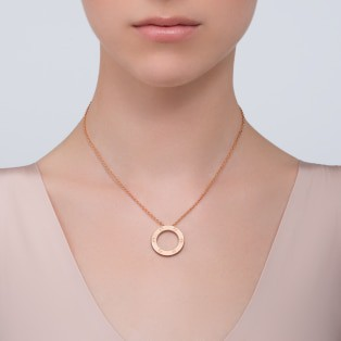 Love necklace Pink gold