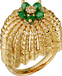 Cactus de Cartier ring Yellow gold, sannan-skarn, diamonds