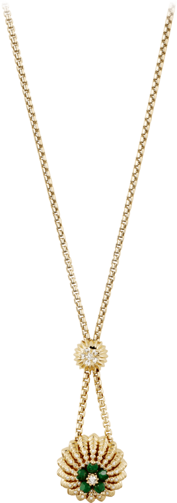 Cactus de Cartier necklaceYellow gold, sannan-skarn, diamonds