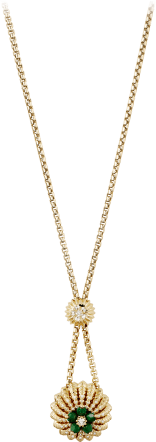 Cactus de Cartier necklace Yellow gold, sannan-skarn, diamonds