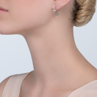 Juste un Clou earrings White gold
