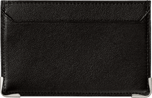 Must de Cartier Small Leather Goods, simple card holder Black calfskin, stainless steel finish