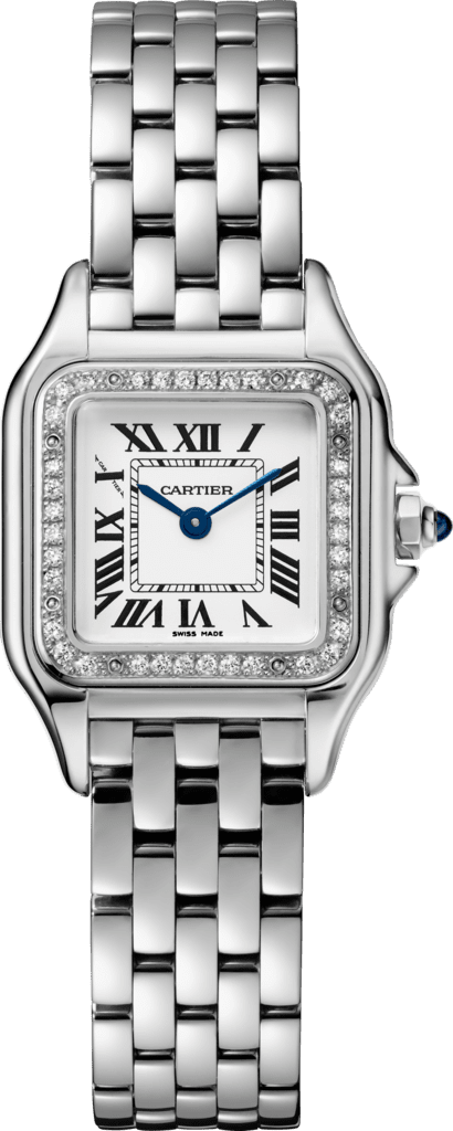 Panthère de Cartier watchSmall model, steel, diamonds