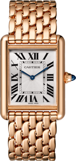 Tank Louis Cartier watch Large model, pink gold