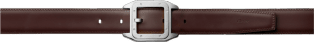 Santos 100 belt Black cowhide, palladium-finish buckle