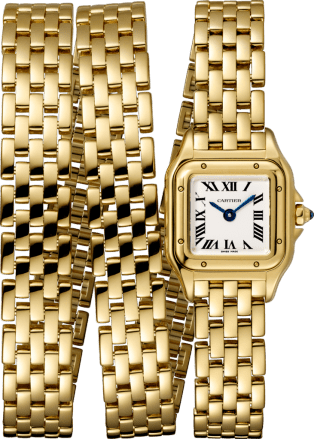 Panthère de Cartier watch Mini model, triple loop, yellow gold