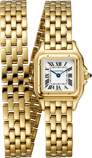 Panthère de Cartier watch Small model, double loop, yellow gold