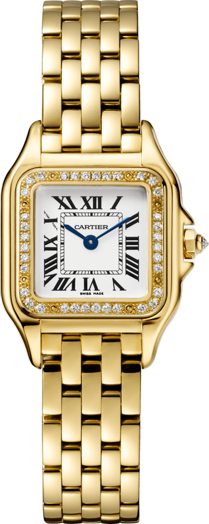 Panthère de Cartier watchSmall model, yellow gold, diamonds