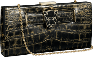 Panthère de Cartier clutch bag Bronze crocodile skin, golden finish