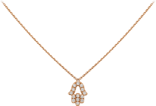 Hearts and Symbols pendant Pink gold, diamonds