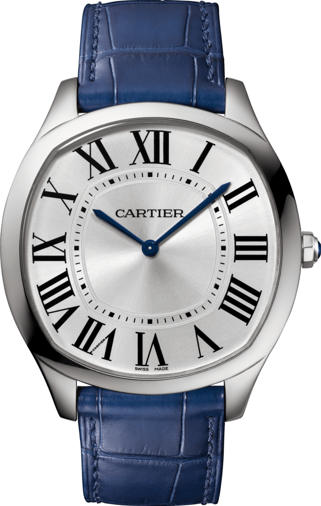 Drive de Cartier Extra-Flat watchSteel, leather