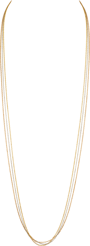 Trinity de Cartier necklace White gold, yellow gold, pink gold