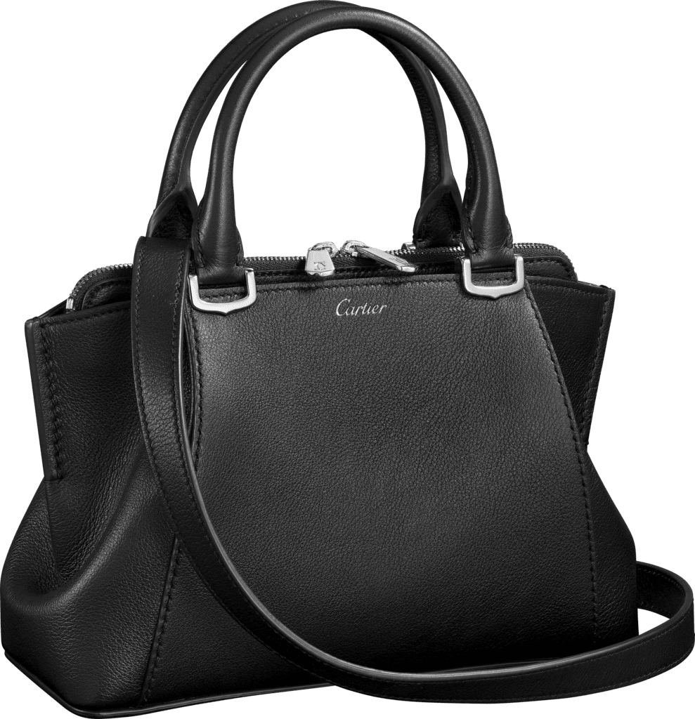 C de Cartier bag, mini modelOnyx taurillon leather, palladium finish