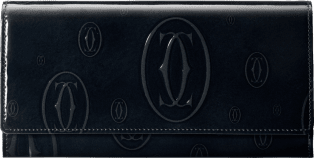 Small Leather Goods Happy Birthday international wallet Black calfskin, palladium finish