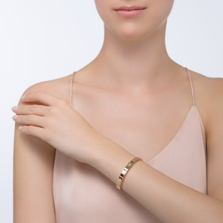 Love bracelet, 1 diamond Yellow gold, diamond