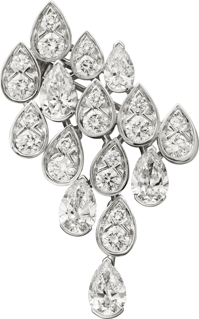 Pluie de Cartier broochWhite gold, diamonds