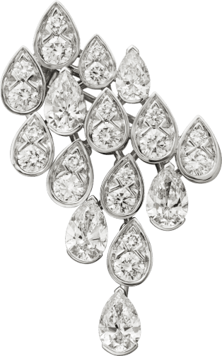 Pluie de Cartier brooch White gold, diamonds