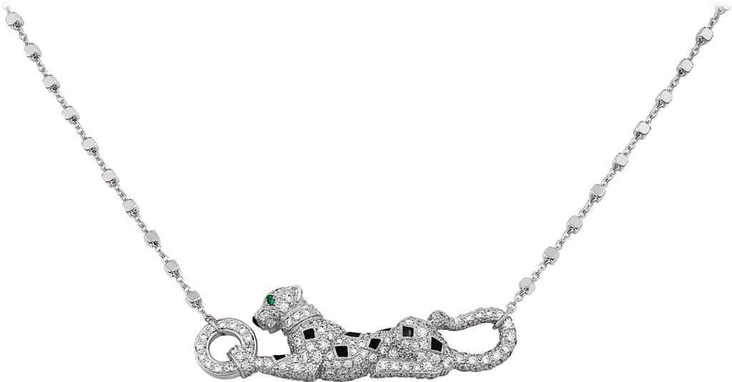 Panthère de Cartier necklaceWhite gold, emeralds, diamonds
