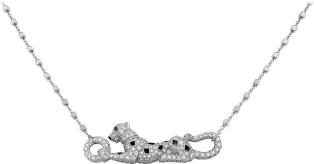 Panthère de Cartier necklace White gold, emeralds, diamonds