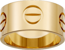 Love ring Yellow gold