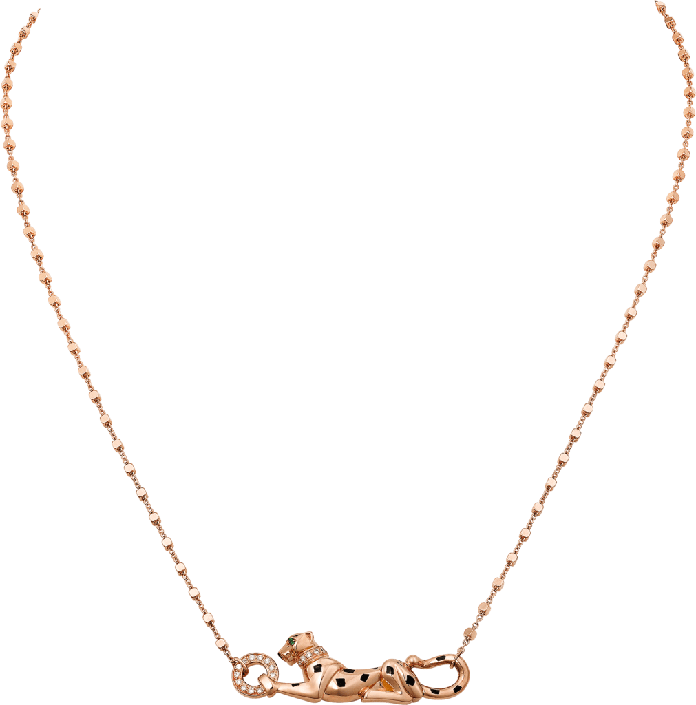 Panthère de Cartier necklacePink gold, tsavorite garnets, diamonds